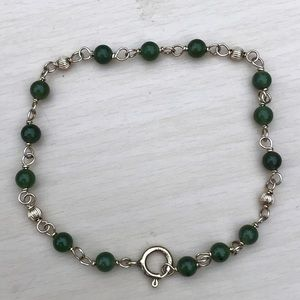 Vintage 14k gf nephrite jade bracelet